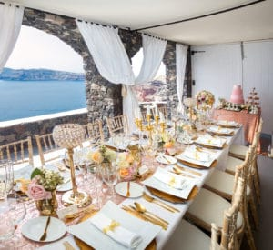 Santorini Reception Setting